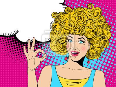 Jeune, sexy, heureux, surpris, blond, femme, ouvert, bouche, papier ... a3def233a7d