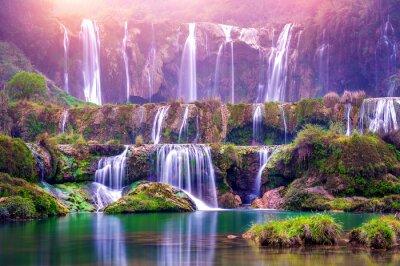 Papiers peints Jiulong cascade dans Luoping, Chine.
