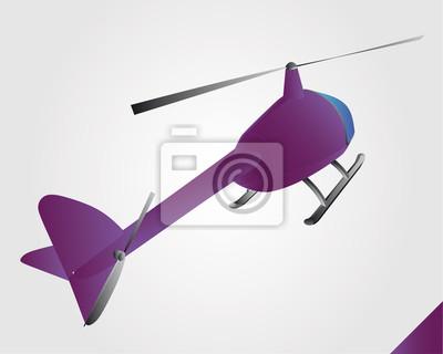 jouet d'hélicoptère violette au vol vecteur