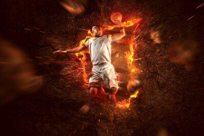 Papiers peints Joueur de Basket on Fire