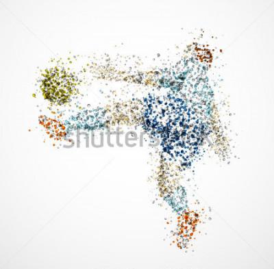 Papiers peints Joueur de football, botter et ballon. EPS 10