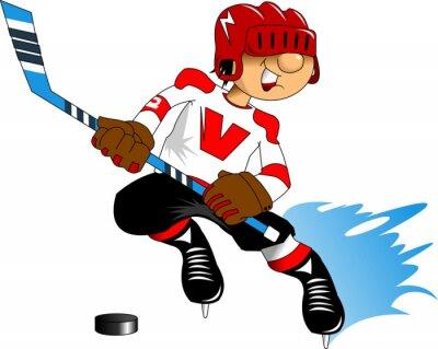 Papiers peints joueur de hockey en blanc