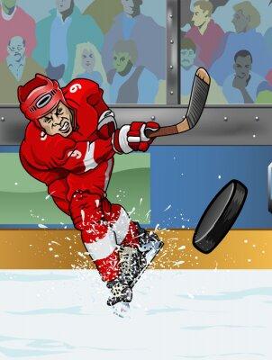 Papiers peints Joueur de hockey sur glace Detroit.