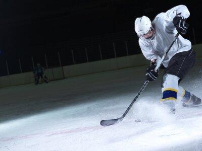 Papiers peints joueur de hockey sur glace en action