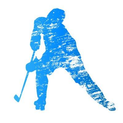 Papiers peints Joueur de hockey sur glace Résumé vecteur grungy