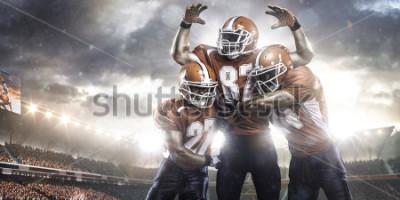 Papiers peints Joueurs de football américain en action vue panoramique du stade