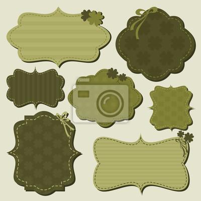 Jour étiquettes Collection de St. Patrick