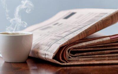 Papiers peints Journal et le café