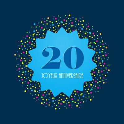 Joyeux Anniversaire 20 Ans Papier Peint Papiers Peints 50 40 20