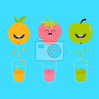 Papiers Peints Jus De Fruits Frais Et Verres Pomme Fraise Fruit Orange Avec
