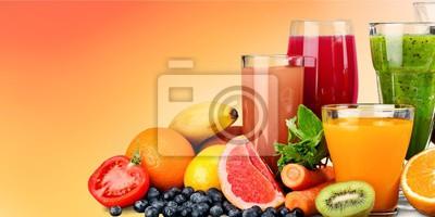 Jus de fruits mûrs et sains dans