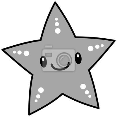 Papiers Peints Kawaii Starfish Illustration Une Illustration De Dessin Animé