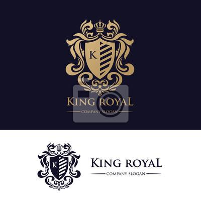 King Royal Logo Identité De Marque De Luxe Papier Peint Papiers