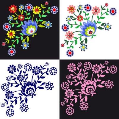 Papiers peints kwieciste Wzory ludowe