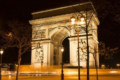 Papiers peints L'Arc de Triomphe la nuit, Paris, France.