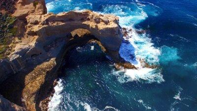 Papiers peints L'arc. Formation rocheuse le long de Great Ocean Road, en Australie. Aeri