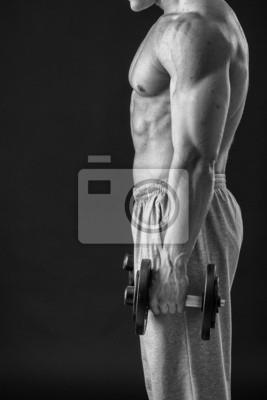 Papiers peints L homme fait des exercices d haltères. Sport 2e5288efc36