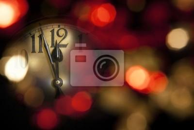 l'horloge de nouvelle année