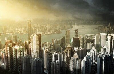 Papiers peints L'île de Hong Kong à partir de la crête de Victoria