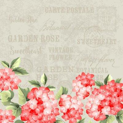 Papiers peints La carte postale vintage.