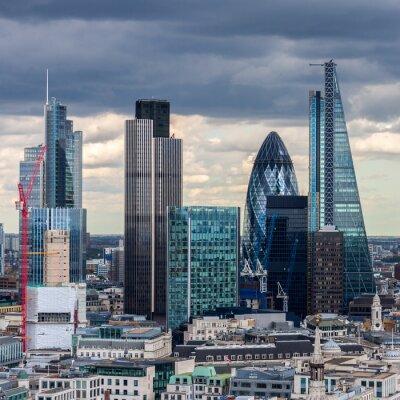 Papiers peints La City de Londres dans l'après midi