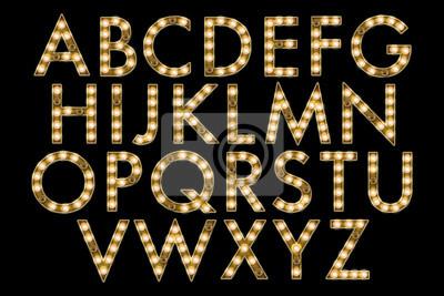 Papiers peints la collecte de l'alphabet chapiteau