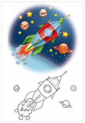 Papiers peints la coloration de vaisseau spatial