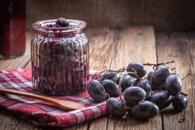 La confiture de raisin noir