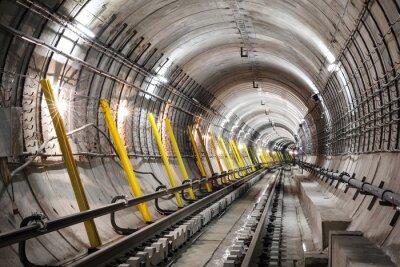 Papiers peints La construction du tunnel du métro