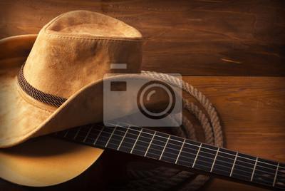 Papiers peints La musique country fond avec guitare