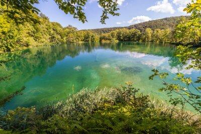 Papiers peints La nature vierge des lacs de Plitvice de parc national, la Croatie