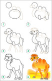 La page montre comment apprendre tape par tape pour - Dessiner un chameau ...