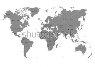 Papiers peints La terrasse, carte du monde sur fond blanc. Antarctique. Illustration vectorielle
