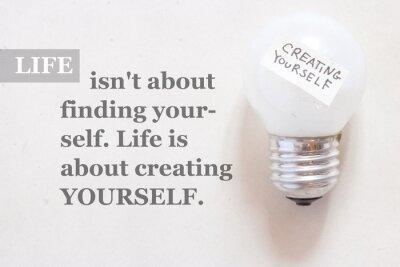 Papiers peints La vie n'est pas de trouver vous-même.