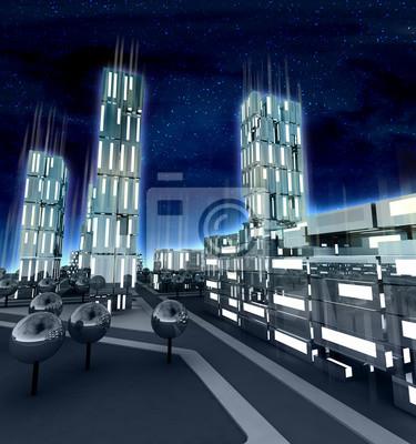 La ville moderne avec des fenêtres descendus à l'avenir
