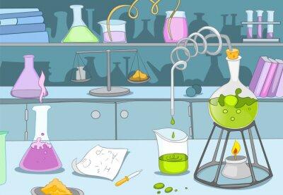 Papiers peints Laboratoire chimique