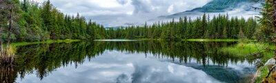 Papiers peints Lac, Mendhenall, glacier, énorme, paysage