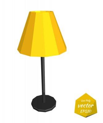 Lampe De Bureau Jaune Sur Un Fond Blanc Vector Illustration Papier