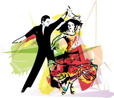 Papiers peints Latino Dancing couple