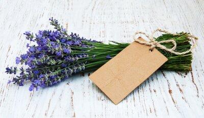 Papiers peints Lavande, fleurs, étiquette