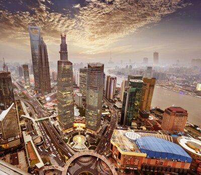 Papiers peints le bâtiment moderne à Shanghai en Chine.