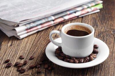 Papiers peints Le café et le journal