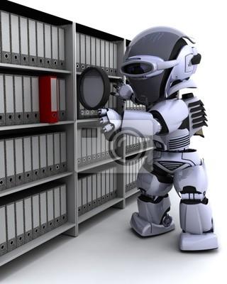 le dépôt des documents de robots