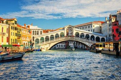Papiers peints Le Grand Canal et le pont du Rialto, Venise, Italie