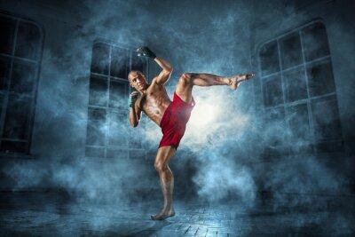 Papiers peints Le jeune homme kickboxing