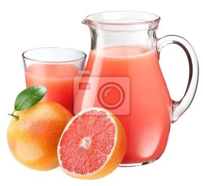 Le jus de pamplemousse et de fruits.