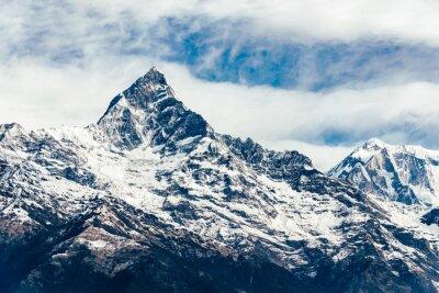 Papiers peints Le Machhapuchhre (queue de poisson) dans la région d'Annapurna, Népal. Filtre d'émulation de film appliqué.