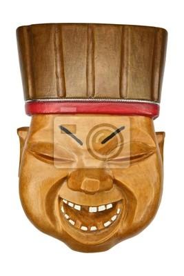 Le masque en bois du joker, Altaï, Sibérie