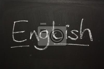 Le Mot Anglais Manuscrite Sur Un Tableau Noir Papier Peint Papiers Peints Tableau A Craie Phrase Litterature Myloview Fr