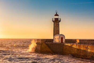 Papiers peints Le phare de Porto, Portugal